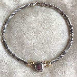 David Yurman Pink Tourmaline Necklace